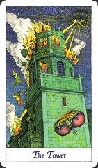 The Tower - Cosmic Tarot
