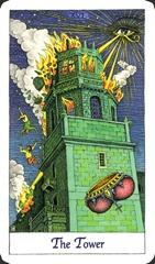 The Tower - Cosmic Tarot