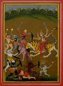 Battling Dhumralochana and His Forces