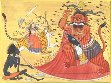 Kaushiki and Kali Battle Raktabija