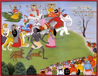 The Seven Matrikas Join the Battle