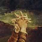 Crucifixion-Magdalene-Hands